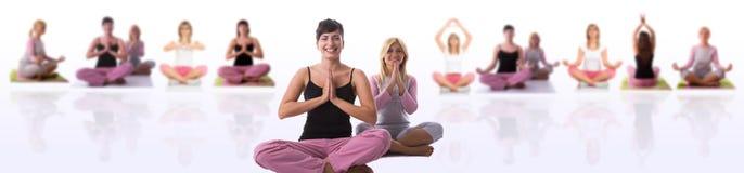 Actitud de la yoga Imagen de archivo libre de regalías