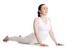 Actitud de la yoga de Bhudjangasana Fotografía de archivo libre de regalías