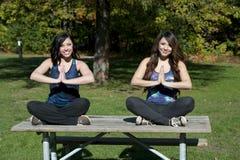 Actitud de la yoga de Dhyana Imágenes de archivo libres de regalías