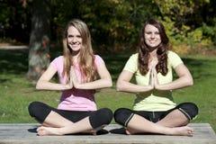 Actitud de la yoga de Dhyana Fotos de archivo libres de regalías