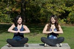 Actitud de la yoga de Dhyana Imagen de archivo