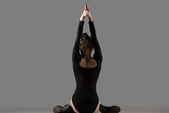 Actitud de la yoga de la cara de la vaca Imagen de archivo