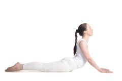 Actitud de la yoga de la cobra Imagenes de archivo