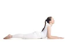 Actitud de la yoga de la esfinge Fotos de archivo