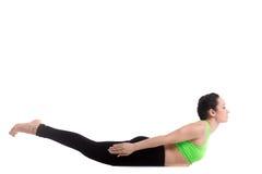 Actitud de la yoga de la langosta Imagen de archivo