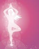 Actitud de la yoga de la mujer Fotos de archivo libres de regalías