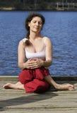 Actitud de la yoga, meditación Imagen de archivo libre de regalías