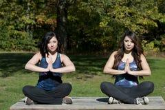 Actitud de la yoga realizada Fotografía de archivo libre de regalías