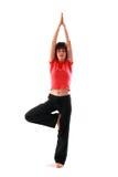 Actitud de la yoga. Vrikshasana. Imagen de archivo