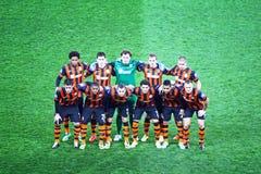 Actitud del equipo del FC Shakhtar Donetsk para una foto del grupo Fotos de archivo