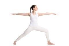 Actitud del guerrero 2 de la yoga Imagen de archivo