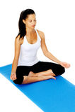 Actitud del loto de la yoga Fotos de archivo