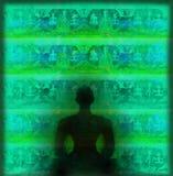 Actitud del loto de la YOGA Imagen de archivo