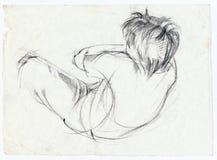 Actitud del muchacho, bosquejo Foto de archivo libre de regalías