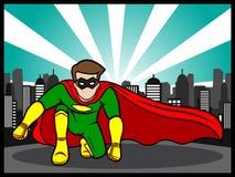 Actitud del super héroe Foto de archivo libre de regalías