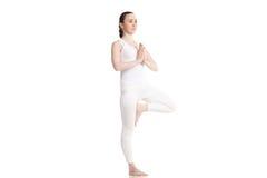 Actitud del vrksasana de la yoga Fotos de archivo