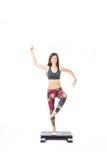 Actitud derecha de la yoga Foto de archivo