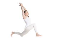 Actitud ecuestre de la yoga Imagen de archivo libre de regalías