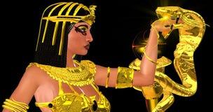 Actitud egipcia de la serpiente Imagen de archivo