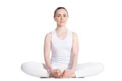 Actitud encuadernada de la yoga del ángulo Imágenes de archivo libres de regalías