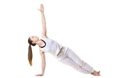 Actitud lateral del tablón de la yoga Fotos de archivo