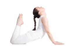Actitud real de la yoga de la cobra Foto de archivo libre de regalías