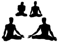 Actitudes de Asana de la yoga Imagenes de archivo