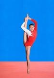 Actitudes de la gimnasia Imagen de archivo libre de regalías