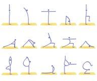 Actitudes de la yoga Imagen de archivo libre de regalías