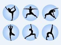 Actitudes de la yoga Fotos de archivo libres de regalías