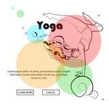 Actitudes de la yoga, pantalones de la yoga Imagen de archivo libre de regalías