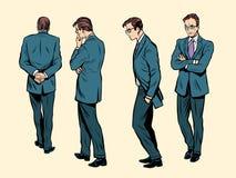 Actitudes de un pensamiento humano que camina ilustración del vector