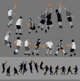 Actitudes del baloncesto Imágenes de archivo libres de regalías