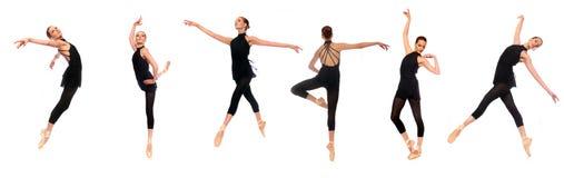 Actitudes del En Pointe del ballet en estudio Imágenes de archivo libres de regalías