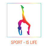 Actitudes femeninas de la yoga Muchacha y ejercicio, forma de vida de la salud, posición de balanza Imagen de archivo