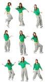 Actitudes modernas del bailarín Imagen de archivo libre de regalías
