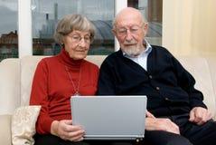 Activ Älterleute Stockbild