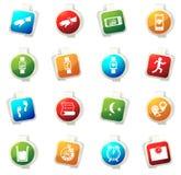 Activando e iconos del entrenamiento fijados Imagen de archivo libre de regalías