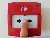Activate the fire system. Activate the fire alarm royalty free stock photos