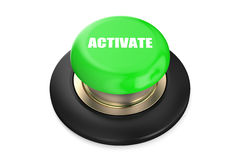 Activate green button Stock Photo