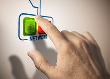 Activate network Stock Photo
