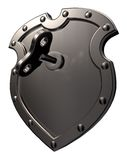 Activate shield Stock Photo