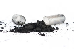 Activated Carbon Capsule Royalty Free Stock Images