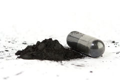 Activated Carbon Capsule Royalty Free Stock Image