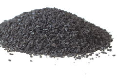 Activated Carbon Piles Royalty Free Stock Image