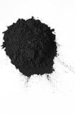 Activated charcoal powder Stock Photos
