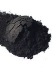 Activated charcoal powder Royalty Free Stock Image