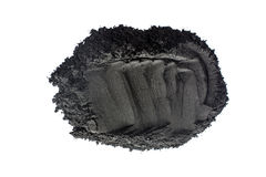 Activated charcoal powder shot with macro lens Stock Images