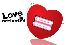 Activated Love Royalty Free Stock Image