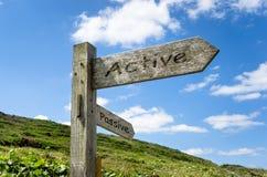 Active или Passive Стоковые Фото